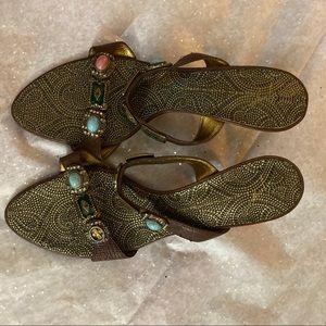 Vicini Jeweled Strappy Sandal Heeled